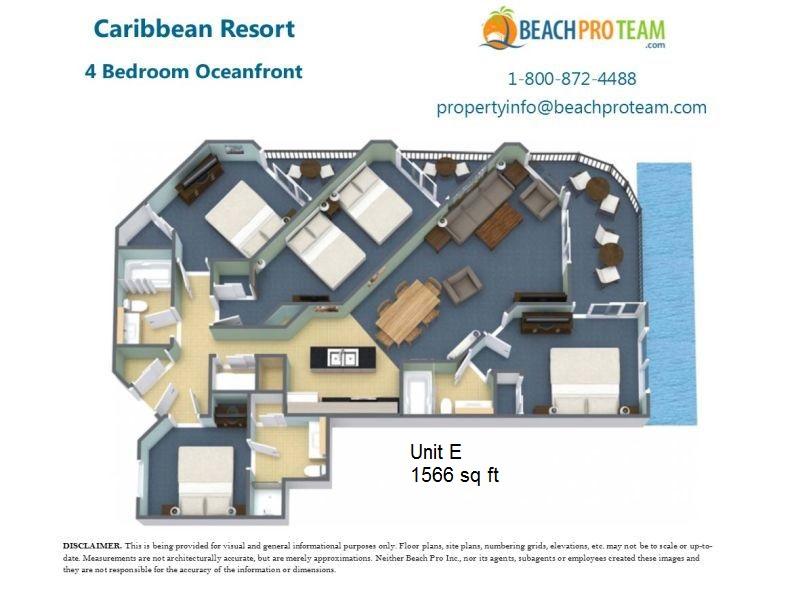 caribbean resort myrtle beach floor plans