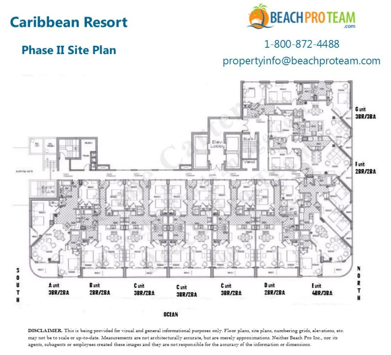 caribbean resort myrtle beach floor plans